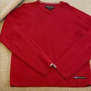 Abercrombie men's red sweater